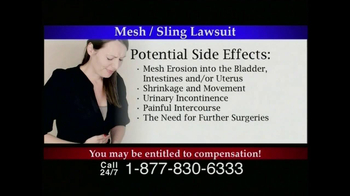 Lee Murphy Law TV Spot for Mesh Or Sling