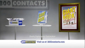 1-800 Contacts TV Spot, 'Giant Book'
