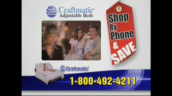 Craftmatic TV Spot For Adjustable Beds Free Informational DVD - Thumbnail 2