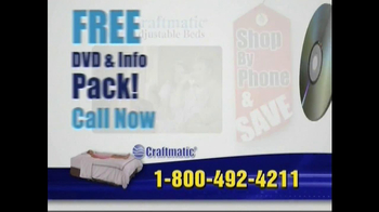 Craftmatic TV Spot For Adjustable Beds Free Informational DVD - Thumbnail 3