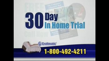 Craftmatic TV Spot For Adjustable Beds Free Informational DVD - Thumbnail 4