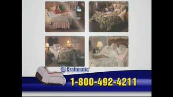 Craftmatic TV Spot For Adjustable Beds Free Informational DVD - Thumbnail 6