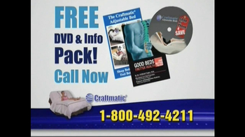 Craftmatic TV Spot For Adjustable Beds Free Informational DVD - Thumbnail 8