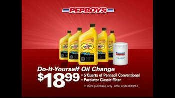 PepBoys TV Spot For Oil Change And Tire Deals