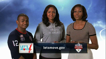 Let's Move TV Spot Featuring Olympic Athletes - 1 commercial airings