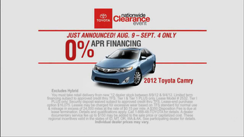 Toyota Nationwide Clearance Event TV Spot, 'Just Get It' - Thumbnail 6