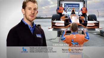 NovoLog FlexPen TV Spot Featuring Charlie Kimball
