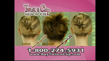 Twist N Clip TV Spot For Hair Clip - Thumbnail 9