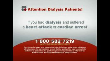 Sokolove Law, LLC TV Spot for Dialysis Patients - Thumbnail 6