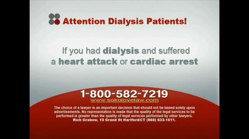 Sokolove Law, LLC TV Spot for Dialysis Patients - Thumbnail 7