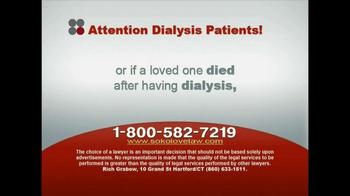 Sokolove Law, LLC TV Spot for Dialysis Patients - Thumbnail 8