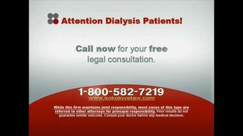 Sokolove Law, LLC TV Spot for Dialysis Patients - Thumbnail 9