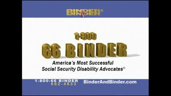 Binder and Binder TV Spot For Social Security Disability Advocates