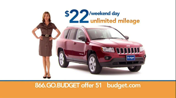 Budget Rent a Car TV Spot For SUV Featuring Wendie Malick - 128 commercial airings