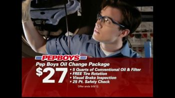 PepBoys TV Spot For Tires & Oil Changes