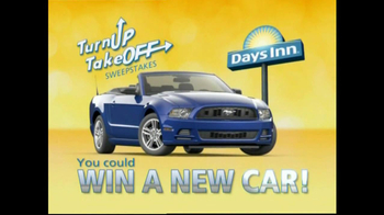 Days Inn TV Spot For Turn Up Take Off Sweepstakes - Thumbnail 2