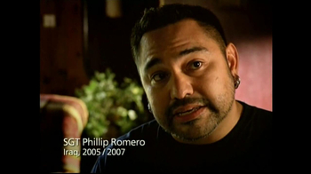 USO TV Spot For PTSD Phillip Romero