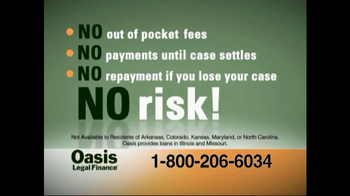 Oasis Legal Finance TV Spot For Instant Change