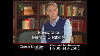 Citizens Disability Helpline TV Spot For Disability - Thumbnail 4