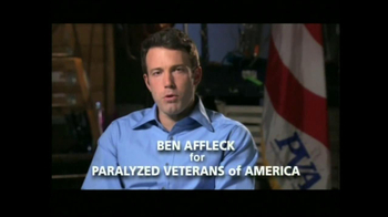 Paralyzed Veterans of America TV Spot, Join' Featuring Ben Affleck - 31 commercial airings