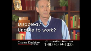 Citizens Disability Helpline TV Spot For Receive Benefits - Thumbnail 2