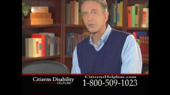 Citizens Disability Helpline TV Spot For Receive Benefits - Thumbnail 3