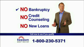 Freedom Debt Relief TV Spot For Get Relief - 463 commercial airings