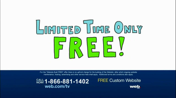 Web.com TV Spot For Free Custom Website