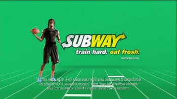 Subway TV Spot, '40 Yard Dash' Featuring Robert Griffin III, Mike Lee, and Blake Griffin