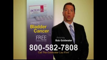 Goldwater Law Firm TV Spot For Actos