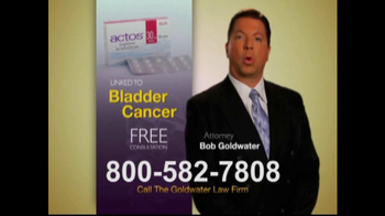 Goldwater Law Firm TV Spot For Actos - Thumbnail 4