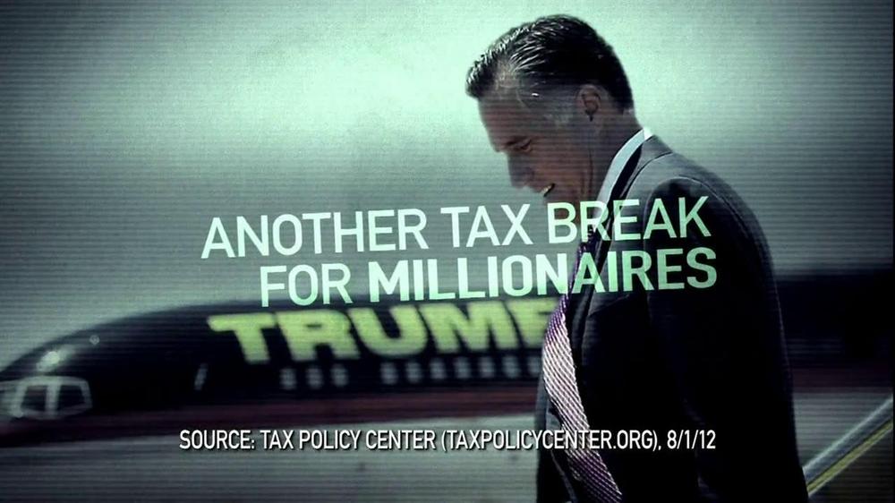 Obama for America TV Commercial For Mitt Romney Tax Plan