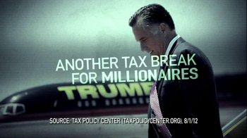 Obama for America TV Spot For Mitt Romney Tax Plan - 120 commercial airings