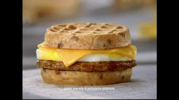 Jack in the Box Waffle Breakfast Sandwich TV Spot, 'Word Game: Swavory' - Thumbnail 5
