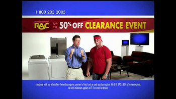 Rent-A-Center TV Spot For Clearance Event - 65 commercial airings