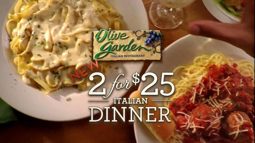 Olive Garden TV Commercial For 2 For 25 Italian Dinner iSpottv