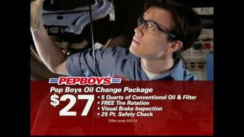 Pep Boys TV Spot For Oil Change Packages
