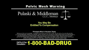 Pulaski & Middleman, L.L.C, Attorneys TV Spot For Pelvic Mesh