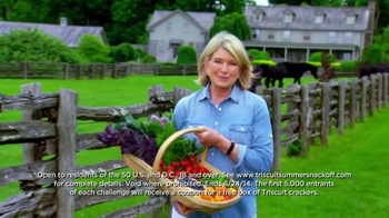Triscuit TV Spot , 'Summer Snackoff' Featuring Martha Stewart - Thumbnail 3