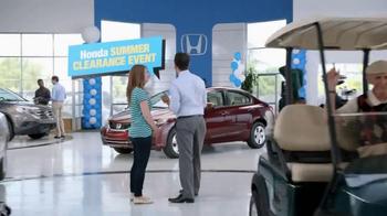 Honda Summer Clearance Event TV Spot, 'Golf Cart' - Thumbnail 4