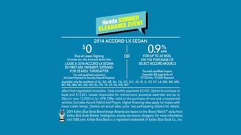 2014 Honda Accord LX Summer Clearance Event Accord TV Spot, 'Sarah' - Thumbnail 9