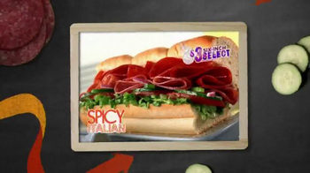 Subway Spicy Italian TV Spot, '$3 Six-Inch Select' - Thumbnail 5