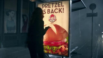 Wendy's Pretzel Bacon Cheeseburger TV Spot, 'All By Myself No More' - Thumbnail 5