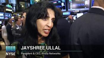 New York Stock Exchange TV Spot, 'Arista Networks' - Thumbnail 3