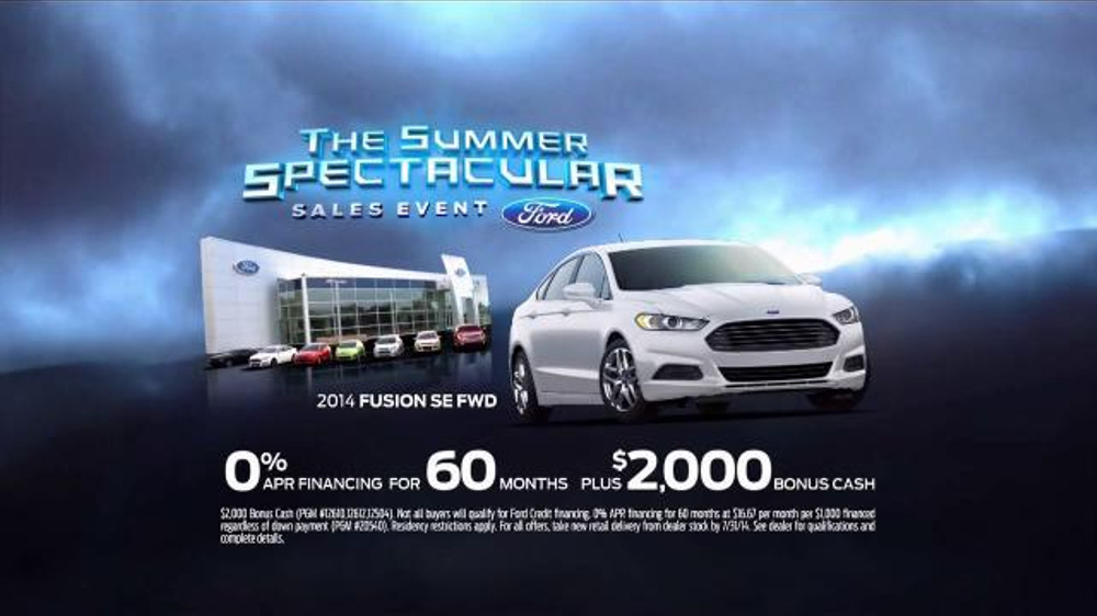 New Ford Explorer Commercial Song >> Ford Summer Spectacular Sales Event TV Commercial, 'Fusion Style' - iSpot.tv