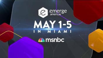 MSNBC Emerge TV Spot, 'Get Tickets Now' Featuring José Díaz-Balart - Thumbnail 10