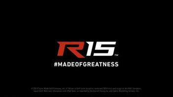 TaylorMade R15 TV Spot, 'Made of Greatness' Featuring Sir Nick Faldo - Thumbnail 8