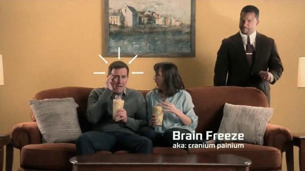 Zaxbys Birthday Cake Milkshake TV Commercial Brain Freeze Ft