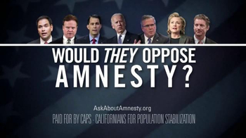 Californians for Population Stabilization TV Spot, 'Amnesty' - Thumbnail 10