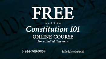 Hillsdale College TV Spot, 'Free Online Constitution Course' - Thumbnail 3